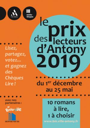 Couverture de la brochure du prix des lecteurs des médiathèques 2019