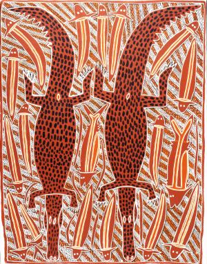 Djambu BARRA BARRA Crocodiles 1996 100x130cm