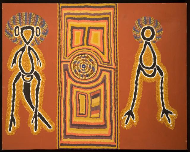 Linda Syddick, Napaljjarri, The Guardians, 1996, 59x74cm