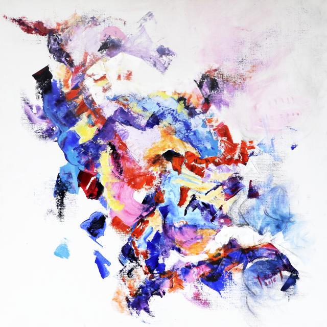 Anne Yeremiyew, Saint Georges, 2014, acrylique et huile sur toile