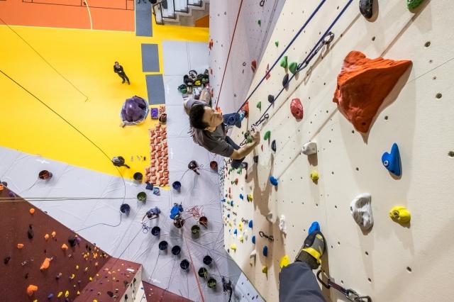 D'une hauteur de 16 mètres, il est un des principaux atouts de ce nouvel ensemble. Il présente plusieurs niveaux de difficulté pour satisfaire les demandes de tous les pratiquants.