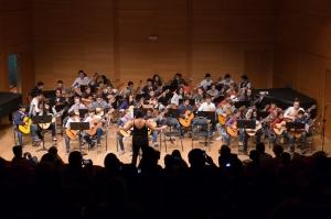 élèves guitaristes du conservatoire Darius Milhaud