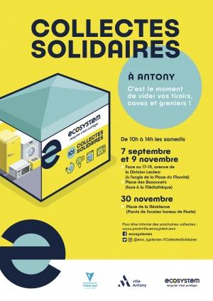 Affiche de la Collecte solidaire