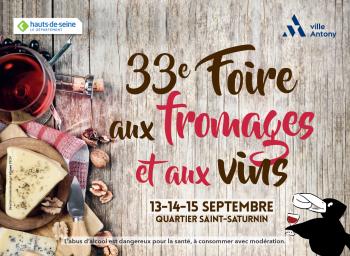 Affiche de la 33e Foire aux fromages et aux vins