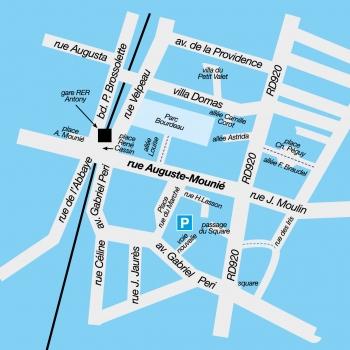 Plan de la rue Auguste-Mounié