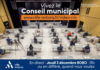 Conseil municipal du 3 décembre