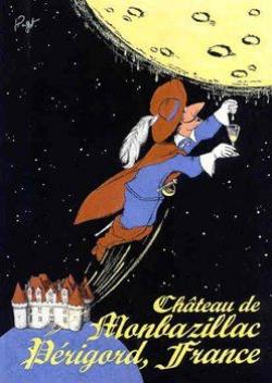 Jean-Pierre Got, Affiche publicitaire pour les vins du château de Monbazillac, années 2000, encre sur papier, 70 x 50 cm © Collection Kathia David et Thomas Sertillanges