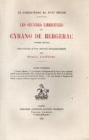 Frédéric Lachèvre, Les œuvres libertines de Cyrano de Bergerac, Paris, Honoré Champion, 1921 © Collection Kathia David et Thomas Sertillanges