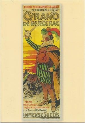Lucien Métivet, Cyrano de Bergerac, affiche de la tournée Moncharmont et Luguet, 1898, encre sur papier