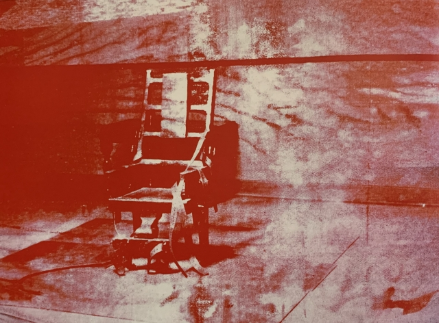 Andy Warhol (1928-1992)  BIG ELECTRIC CHAIR, 1967  sérigraphie sur toile- 137 x 185 cm NY The AndyWarhol Foundation Inc.