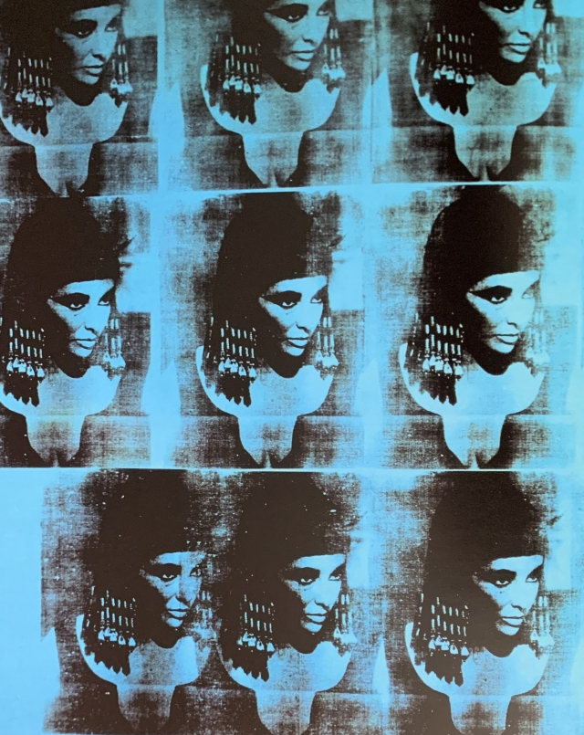 Andy Warhol (1928-1992)  BLUE LIZ AS CLEOPATRA (DETAIL), 1963   sérigraphie sur toile- 208,5 x 165 cm NY The AndyWarhol Foundation Inc.