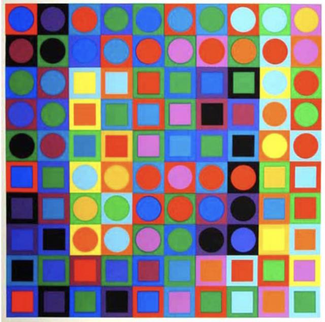 Victor Vasarely (1906-1997)  FOLKLORE PLANETAIRE, 1969  sérigraphie sur papier - 63 x 63 cm