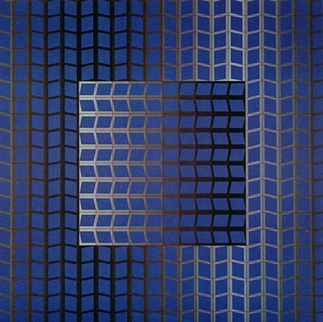 Victor Vasarely (1906-1997)  ZETT-KECK, 1966 sérigraphie sur papier - 67 x 67cm