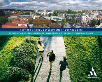Couverture du rapport développement durable 2018