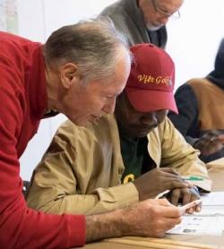 Accompagnement des migrants du CHUM par des bénévoles